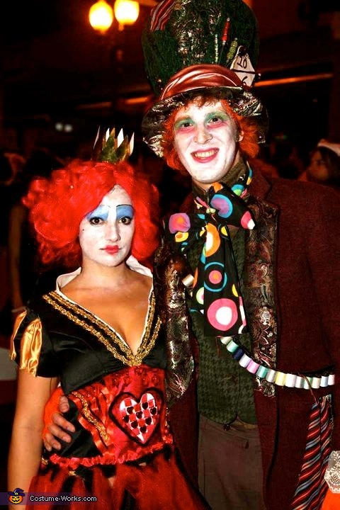 Mad Hatter and Queen of Hearts Couple Costume