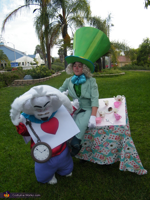 YOU CANT VERY WELL HAVE LESS !, Mad Hatter & White Rabbit Costume