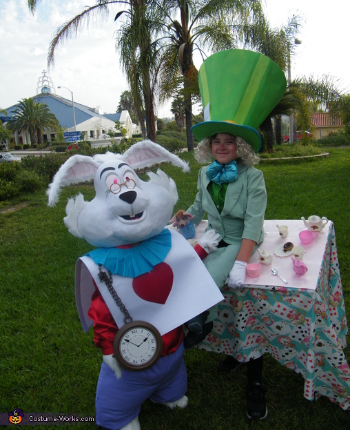 TEA, TEA , WHO'S GOT THE TEA?, Mad Hatter & White Rabbit Costume