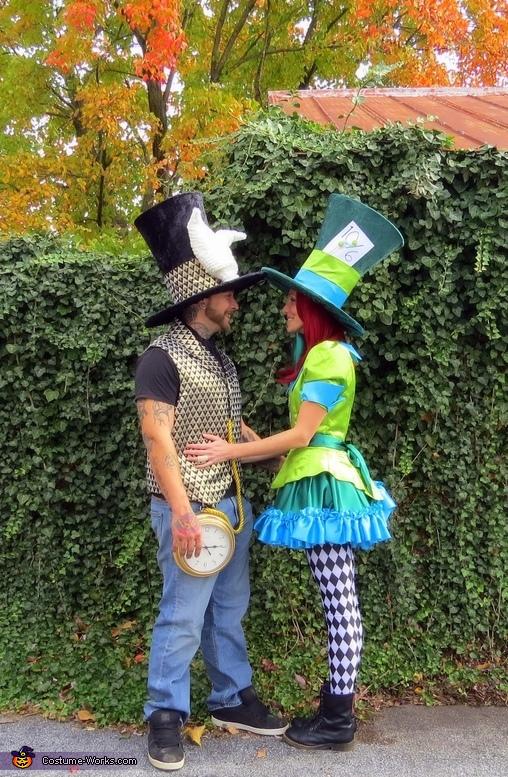 Mad Hatter & White Rabbit Homemade Costume