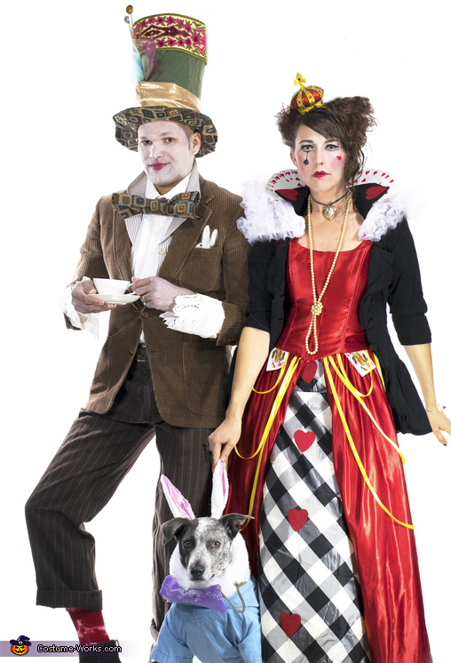 Mad Hatter, Queen of Hearts and the White Rabbit Costume