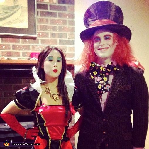 Queen of Hearts and The Mad Hatter, Mad Hatter, Queen of Hearts and White Rabbit Costume