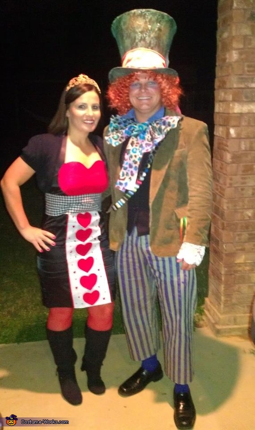 Mad Hatter with his Queen of Hearts Costume
