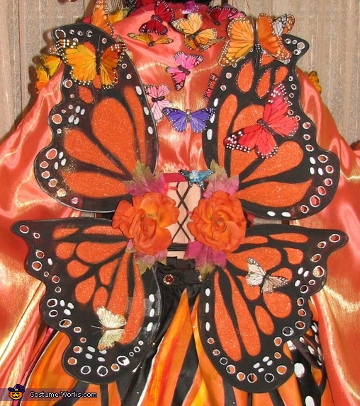 The wings were made from coat hangers and knee high stockings!, Madame Butterfly Costume