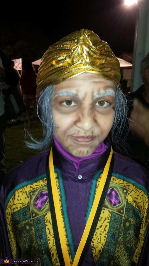 Old lady makeup, Madame Zoltar Costume