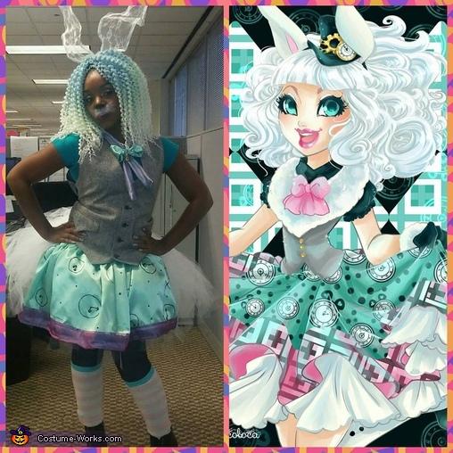 Madeline Hatter & Bunny Blanc Homemade Costume