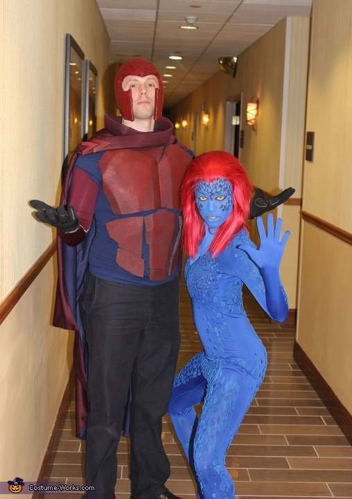 X-Men Magneto and Mystique Couples Costume
