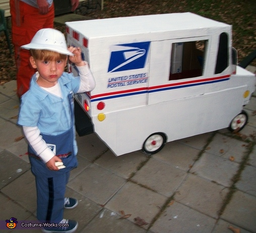 Mail Man & Truck - Homemade costumes for boys