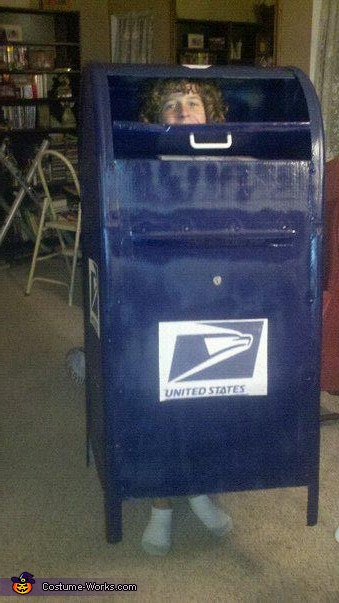 Homemade Mail Box Costume