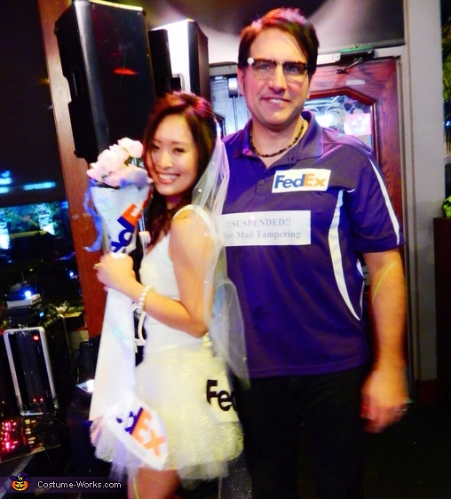 Mail Order Bride and FedEx Delivery Guy Costume
