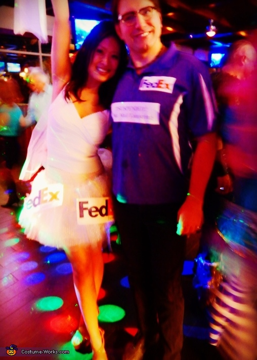 Mail Order Bride and FedEx Delivery Guy Homemade Costume