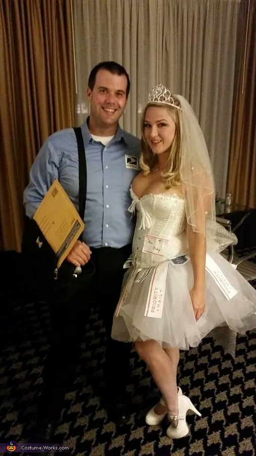 Mail Order Bride and Postal Worker Couples Costume