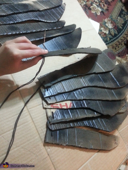 making the wings, Maleficent Adult Costume