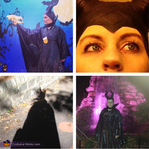 a small collage that shows the contact lenses as well!, Maleficent Costume