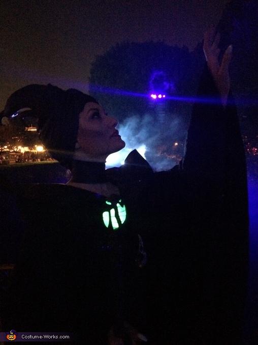 Maleficent 2014 movie christening gown scene costume at Disneyland , Maleficent Costume