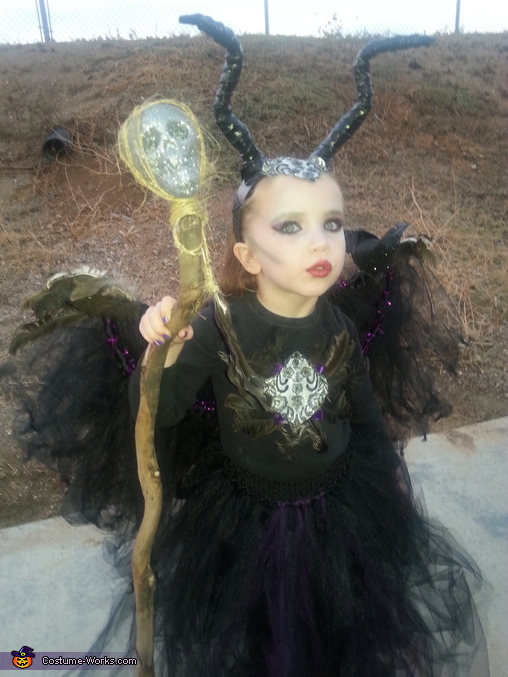 Maleficent Girl's Homemade Costume