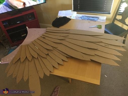adding feathers, Maleficent Costume