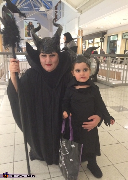 Maleficent and Mini Maleficent Costume