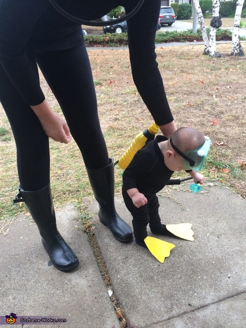 Mama & Baby Scuba Cuties Homemade Costume
