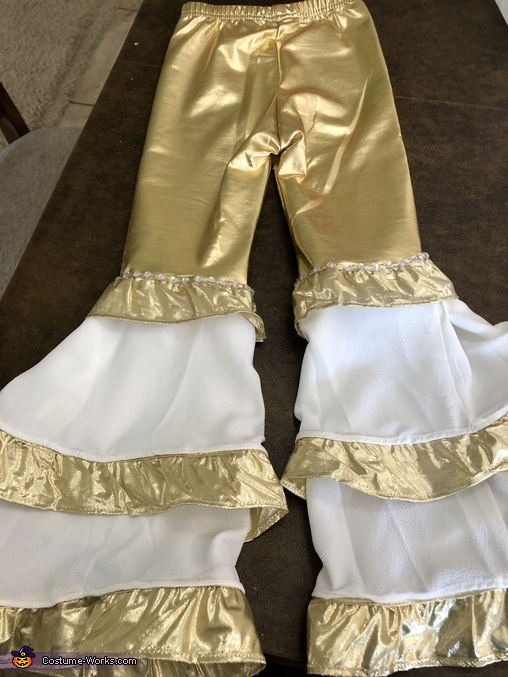 Finished pants, Mamma Mia Dancing Queen Costume