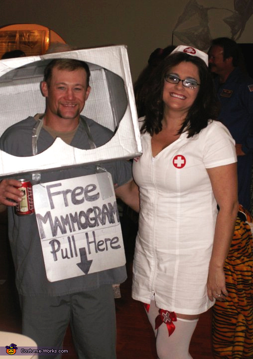 75 creative couples costume ideas couples halloween costume idea mammogram machine and nurse couple costume solutioingenieria Gallery
