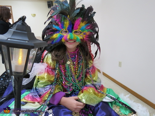 close up front, Mardi Gras Float Costume