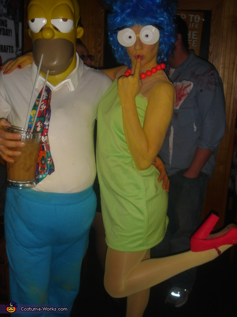 Marge and her Hommie - Homemade costumes for couples