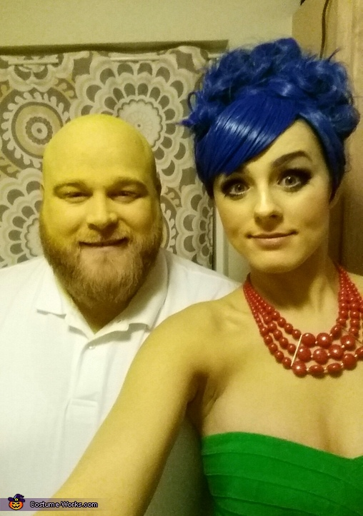 Marge and Homer Simpson Couple Homemade Costume