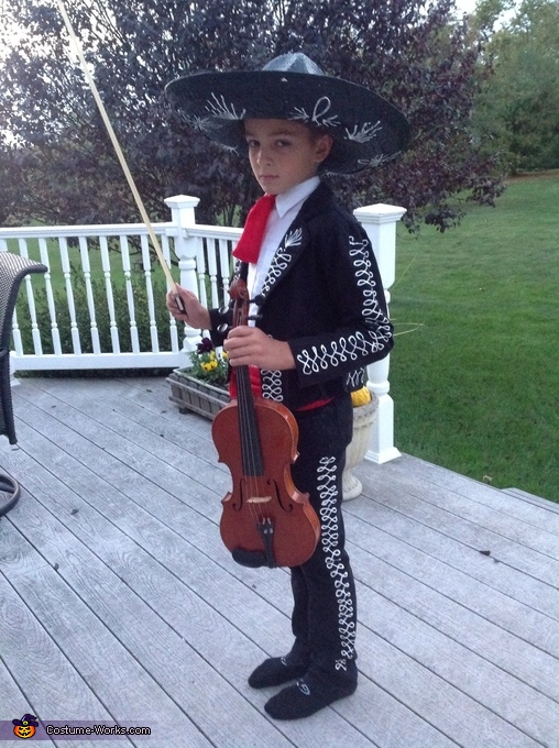 Mariachi Boy ready to fiddle, Mariachi Boy Costume