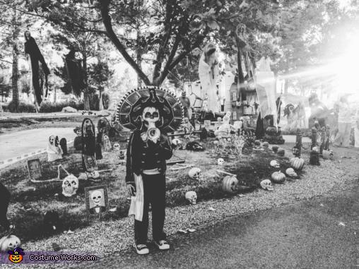 Trick or treating., Mariachi Skeleton Costume