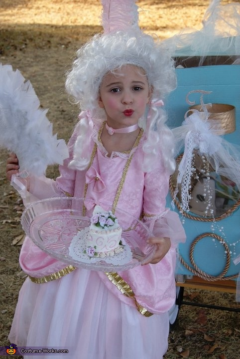 Marie Antoinette Homemade Costume For Girls No Sew Diy