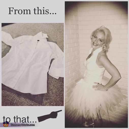 showing what I started with & how it ended up, Marilyn Monroe Costume
