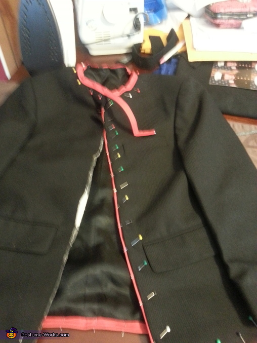 coat in the making., Marine Cpl. Costume