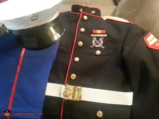 finished costume., Marine Cpl. Costume