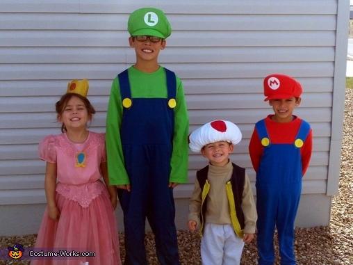 mario brothers crew halloween costume ideas for kids