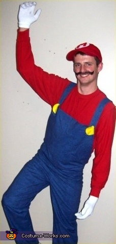 Damien as Mario, Super Mario Brothers Group Costume