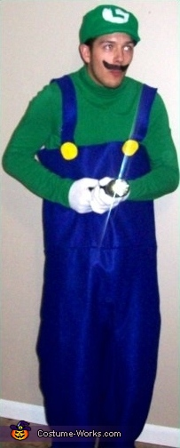 Nick as Luigi, Super Mario Brothers Group Costume