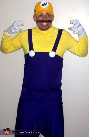 Mike as Wario, Super Mario Brothers Group Costume