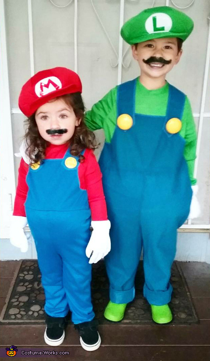 Mario And Luigi Children S Costume