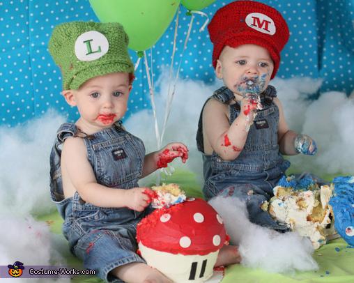 Mario And Luigi Twin Babies Costume Diy Costumes Under 65