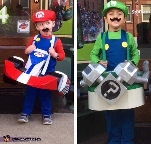 Mario And Luigi Karts Costume Easy Diy Costumes