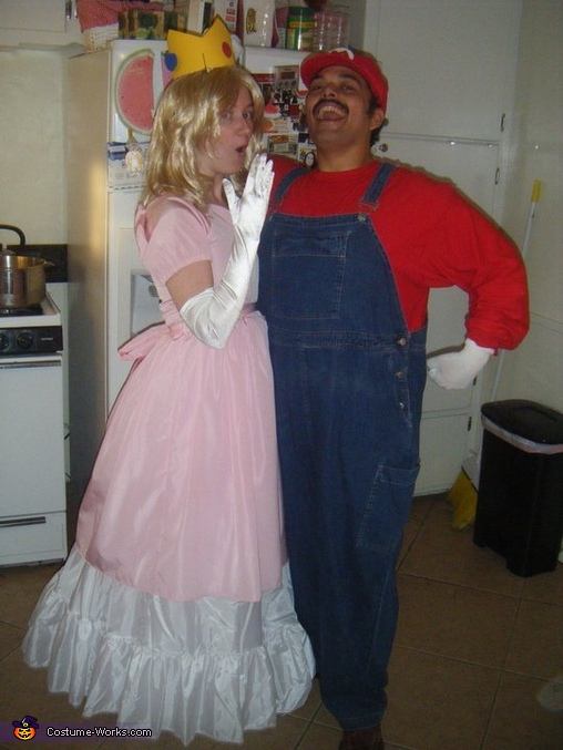 Mario and Peach Homemade Couple Costume