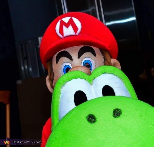 Mario and Yoshi Homemade Costume