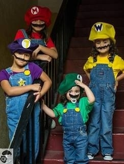Mario Bros. Sisters Homemade Costumes