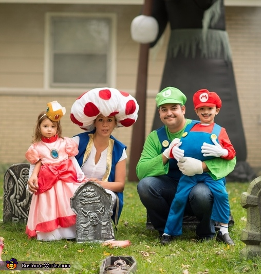 Mario Brothers and Family Costume