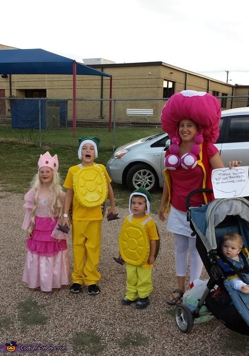Mario Themed Family Costumes