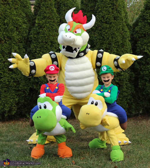 Mario bros and Bowser, Mario Family Costume
