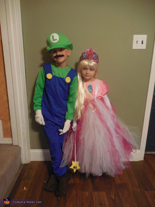luigi and princess peach, Mario Family Costumes