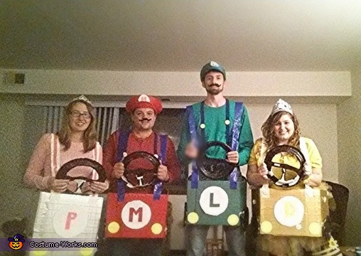 The rest of the group. , Couple Mario Kart Costume
