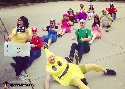 Mario Kart, Mario Kart Group Halloween Costume